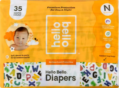 Hello Bello Size N Baby Diapers Perspective: front