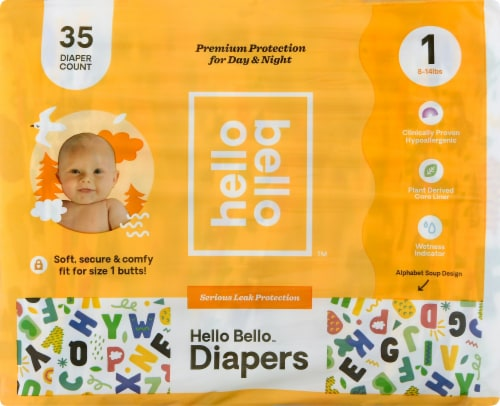 Hello Bello Size 1 Baby Diapers Perspective: front
