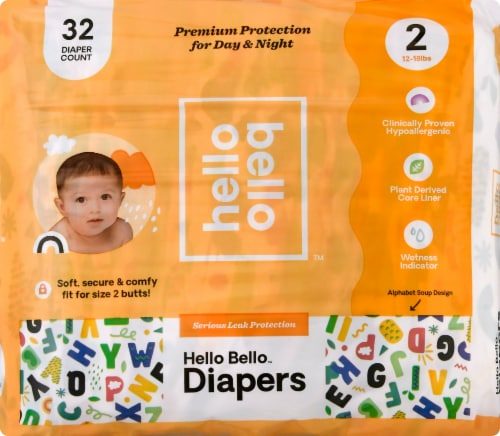 Hello Bello Size 2 Baby Diapers Perspective: front