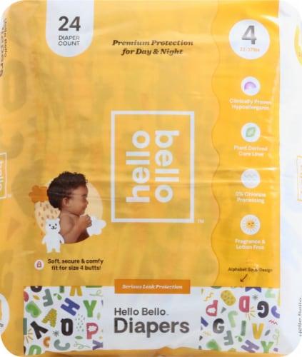 Hello Bello Jumbo Diaper Alphabet Soup-GN Size 4 Perspective: front