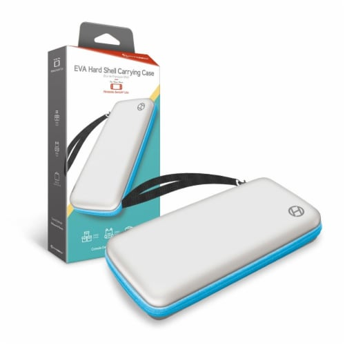 Hyperkin EVA Hard Shell Nintendo Switch Lite Carrying Case - White/Blue Perspective: front