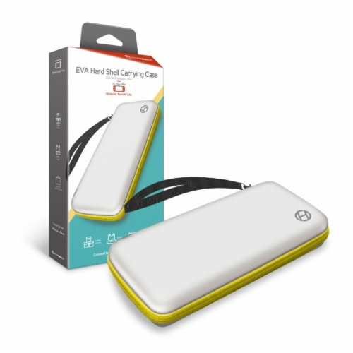 Hyperkin EVA Hard Shell Nintendo Switch Lite Carrying Case - White/Yellow Perspective: front
