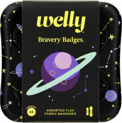 Welly Bravery Badges Assorted Flex Fabric Bandages Perspective: front