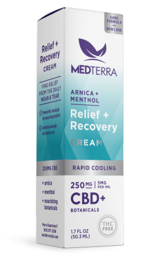 Medterra CBD Rapid Cooling Cream 250mg AVAILABILITY LIMITED TO PHARMACY HOURS Perspective: front
