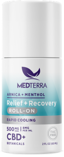 Medterra Relief + Recovery Roll-on Perspective: front