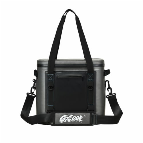 Gymax 38 Cans Portable Cooler Bag Leak-Proof Insulated Water-Resistant For Camping Perspective: front