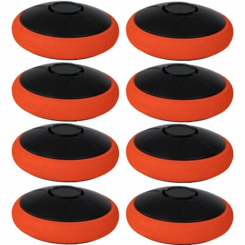 Sunnydaze Tabletop Air Hockey Electronic Rechargeable Hover Puck - Set of 8 Perspective: front