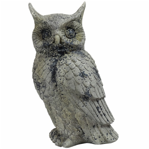 """Sunnydaze Outdoor Garden Statue Great Horned Owl Patio and Lawn Decor - 14"""" Perspective: front"""
