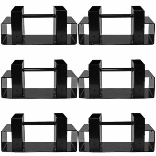 Sunnydaze DIY Log Rack Brackets Kit Steel Outdoor Adjustable Storage - Set of 3 Perspective: front