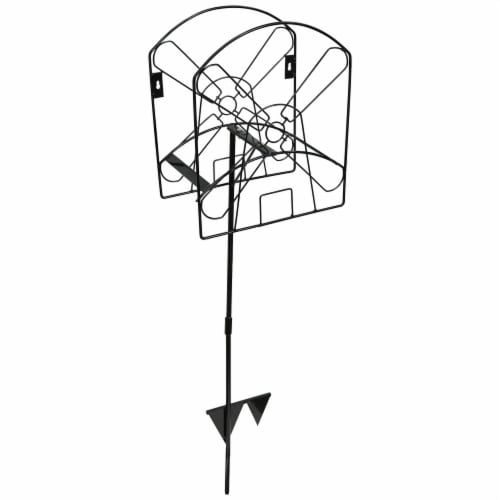 Sunnydaze Metal Garden Hose Stand with Classic Dutch Windmill Design - 42-Inch Perspective: front