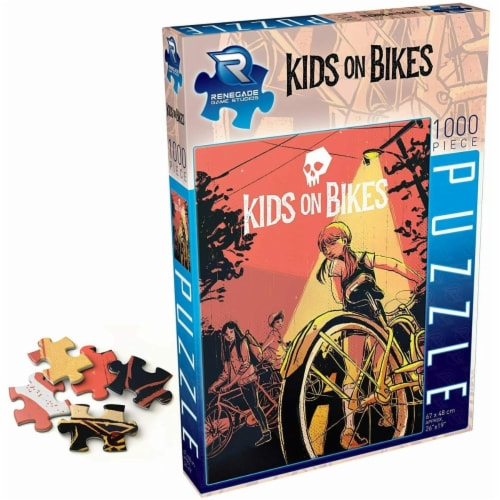 Renegade Game Studios REN2153 Kids on Bikes Puzzle - 1000 Piece Perspective: front