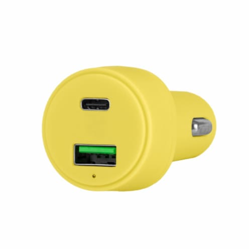Mochic Car Charger Dual Port Usb A & Type C 36w Perspective: front