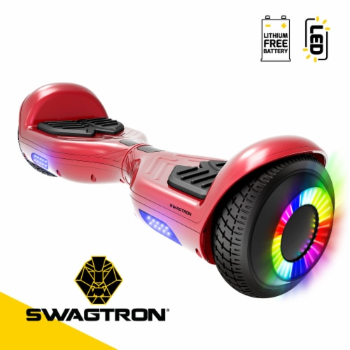 Swagtron Swagboard Twist Remix LED Hoverboard Perspective: front