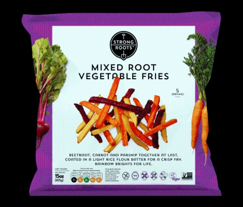 Strong Roots Mixed Root Vegetable Fries Perspective: front