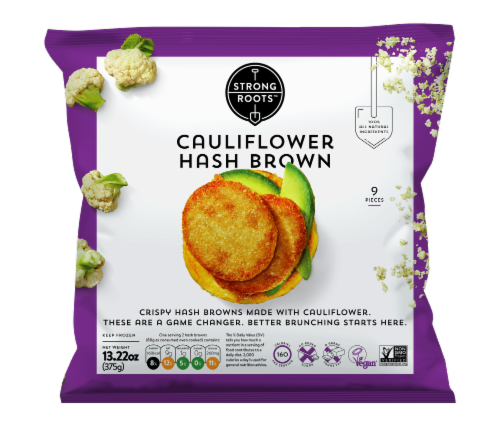 Strong Roots™ Cauliflower Hash Browns Perspective: front