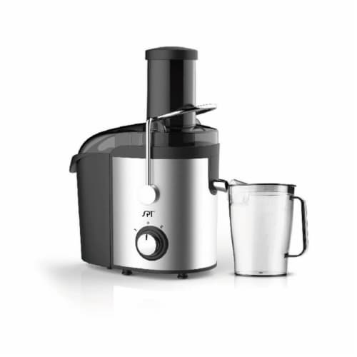 Sunpentown 800W Juice Extractor, Stainless Steel Perspective: front