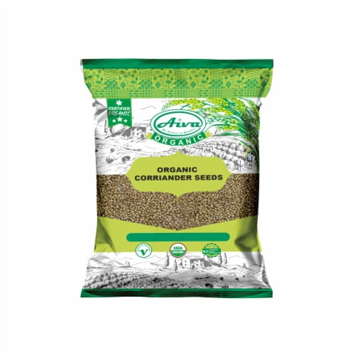 Organic Coriander Seed Perspective: front