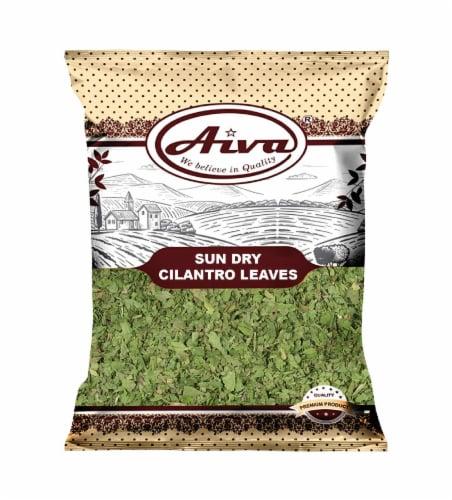 Aiva Sun Dry Cilantro Leaves Premium Quality (Coriander Leaves Seasoning) - Cilantro Herb Perspective: front