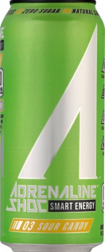 Adrenaline Shoc Smart Energy Sour Candy Energy Drink Perspective: front