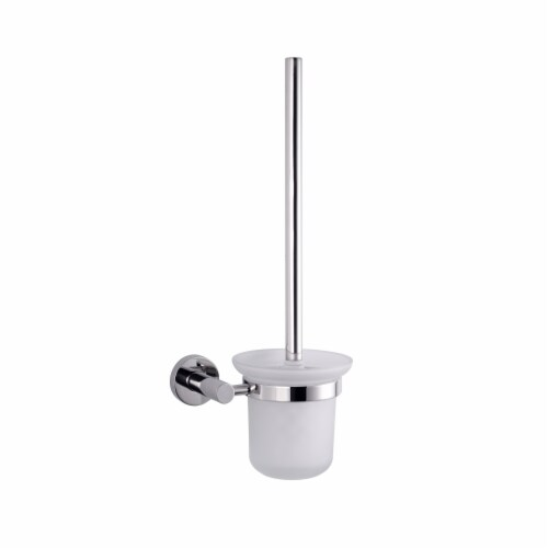 Bagno Nera Stainless Steel Toilet Brush - Chrome Perspective: front