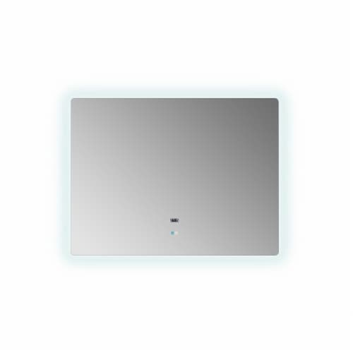 """Lugano 48"""" Wide x 36"""" Tall LED Mirror w/ Defogger Perspective: front"""