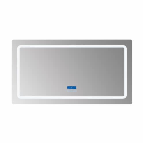 """Caldona 60"""" Wide x 32"""" Tall LED Mirror w/ Defogger Perspective: front"""