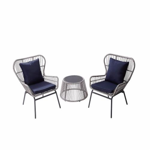 Peaktop Patio Furniture Set Table 2, Peaktop 3 Piece Wicker Patio Set With Cushions