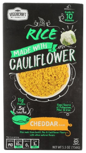 Veggiecraft Farms Cheddar Cauliflower Rice Perspective: front