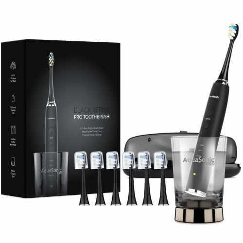 AquaSonic Black Series Pro - Electric Toothbrush Perspective: front