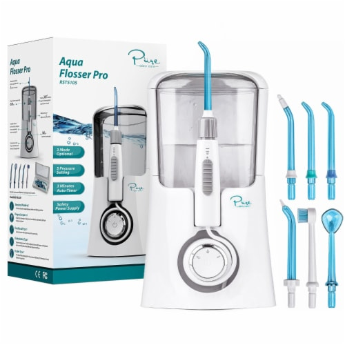 Pure Daily Care Aqua Flosser Pro with 12 Attachments Perspective: front
