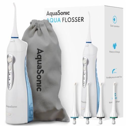 Aqua Flosser - Professional Rechargeable Oral Irrigator & 4 dental tools Perspective: front