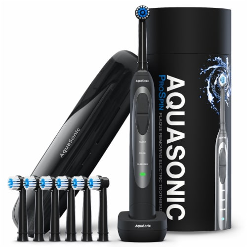AquaSonic ProSpin – Ultra Whitening & Plaque Removing Electric Toothbrush Perspective: front