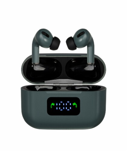 Airplus Ultimate Wireless Bluetooth Earbuds - Army Green Perspective: front