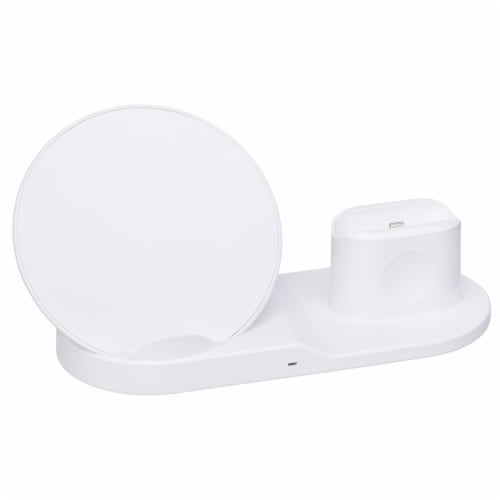 Swisstek Powerstation Wireless Charging Station - White Perspective: front
