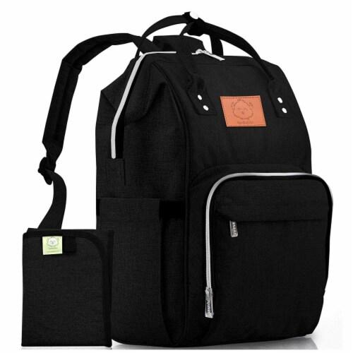 Original Diaper Backpack (Trendy Black) Perspective: front