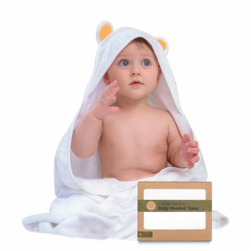Bamboo Hooded Towel (Bear) Perspective: front