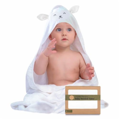 Bamboo Hooded Towel (Lamb) Perspective: front