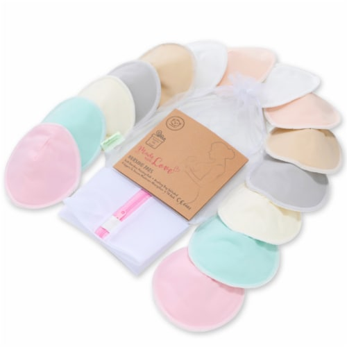 "COMFY Organic Bamboo Nursing Pads (Pastel Touch, Medium 3.9"") Perspective: front"