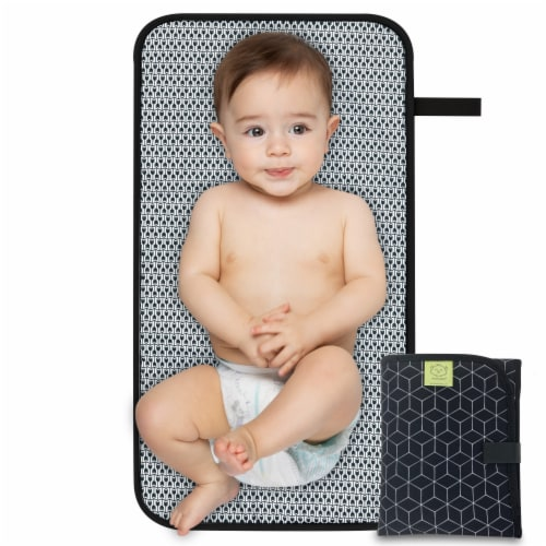 Swift Diaper Changing Pad (Black Geo) Perspective: front