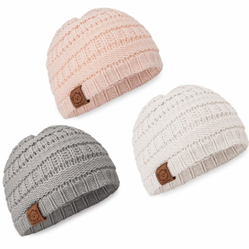 3-Pack Warmzy Baby Beanies (Sweet Pea) Perspective: front