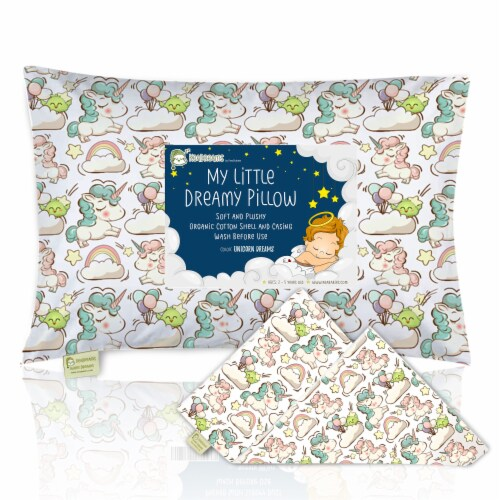 "Printed Toddler Pillowcase 13X18"" (Unicorn Dreams) Perspective: front"