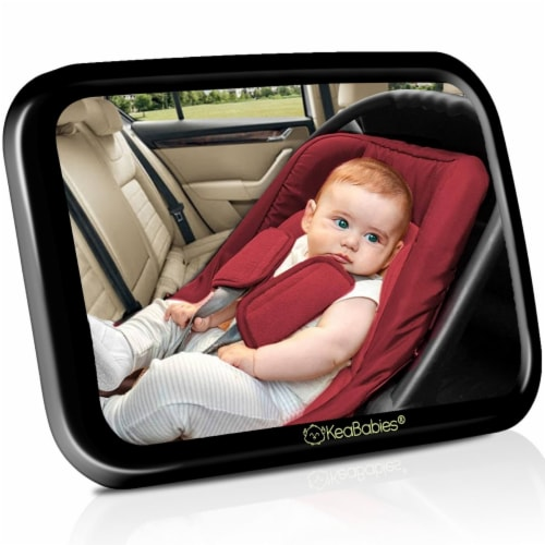 Baby Car Mirror For Rear Facing Infant Car Seat (Sleek Black) Perspective: front
