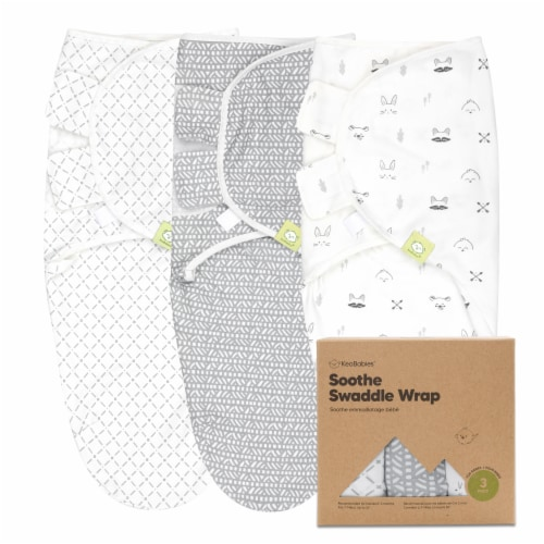 3-Pack SOOTHE Swaddle Wraps (Nordic) Perspective: front