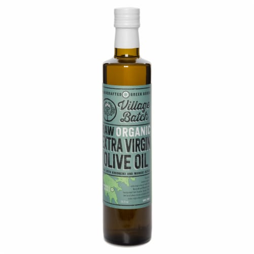 Village Batch Raw Organic Extra Virgin Olive Oil Perspective: front