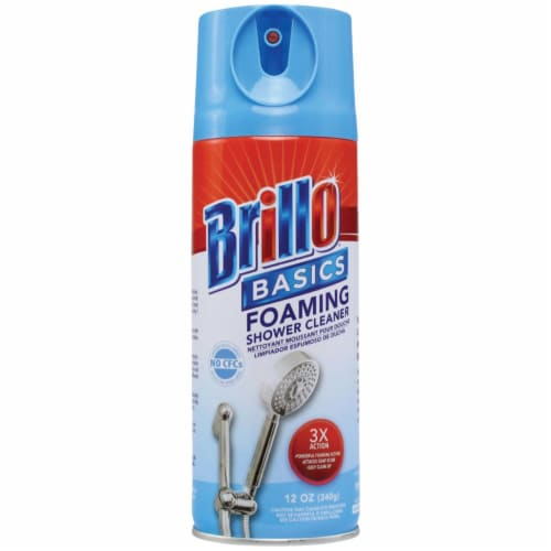 Brillo Basics 12 Oz. Foaming Spray Tub, Tile & Shower Cleaner Pack of 12 Perspective: front