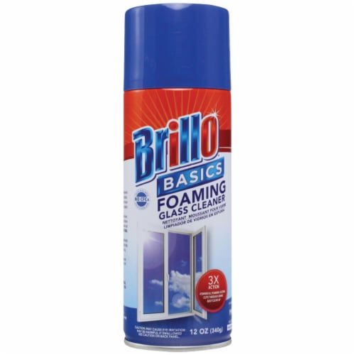 Brillo Basics 12 Oz. Foaming Fresh Citrus Glass & Surface Cleaner Pack of 12 Perspective: front