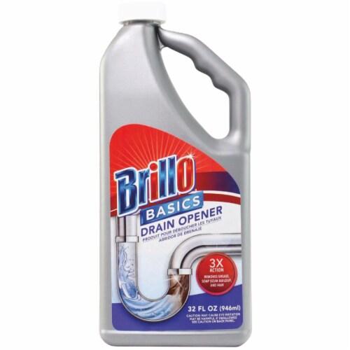 Brillo Basics 32 Oz. Liquid Drain Opener BB-28082 Pack of 12 Perspective: front