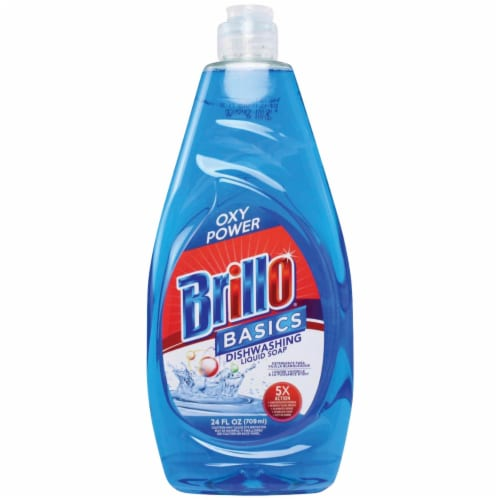 Brillo Basics 24 Oz. Liquid Unscented Oxy Power Dish Soap 83690 Pack of 12 Perspective: front