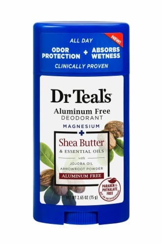 Dr Teal's Shea Butter Aluminum Free Deodorant Perspective: front