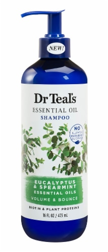 Dr Teal's Eucalyptus/Spearmint Volume & Bounce Shampoo Perspective: front